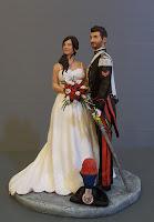 sposini realistici sculture per matrimonio luxury statuette artistiche orme magiche