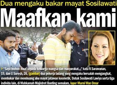 Gagal Rayuan, Pembunuh Datuk Sosilawati TETAP Ke Tali Gantung