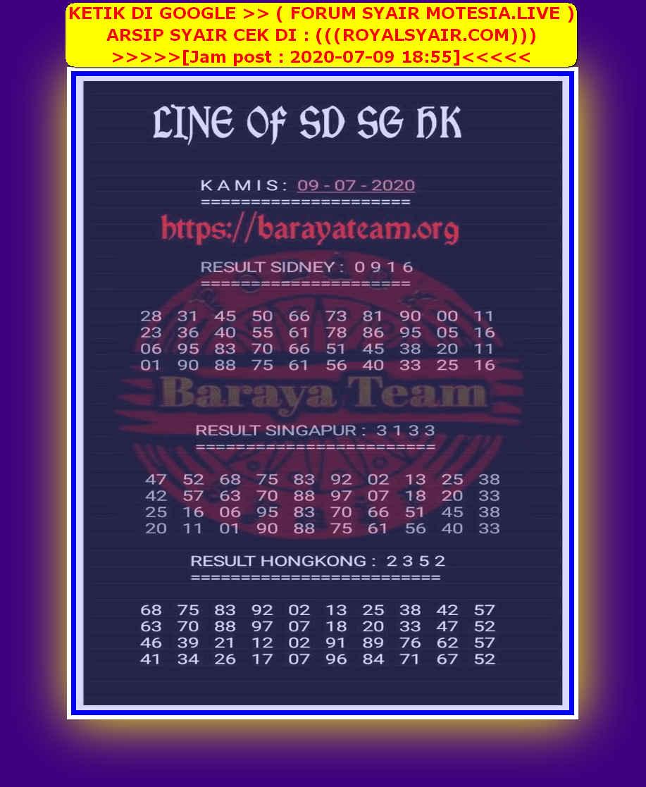 Kode syair Hongkong Kamis 9 Juli 2020 176