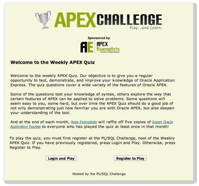 Dimitri Gielis Blog (Oracle Application Express - APEX): APEX