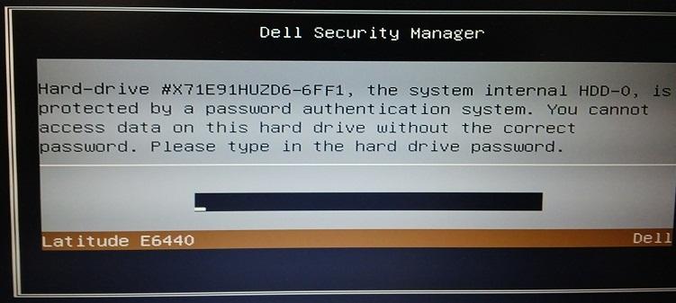 locked password hard drive