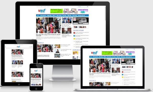 Template blogspot tin tức tạp chí