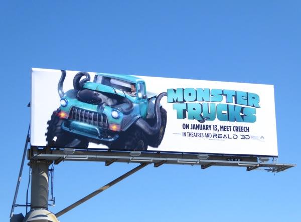 Monster Trucks movie billboard