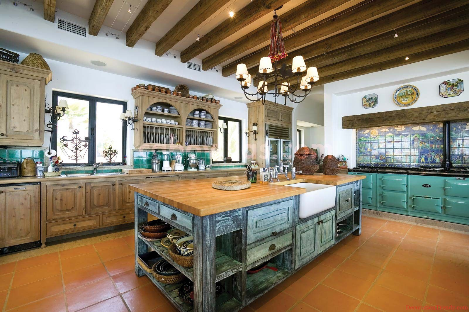Home decoration inspiration mexican contemporary kitchen - Modern rustic kitchen cabinets ...