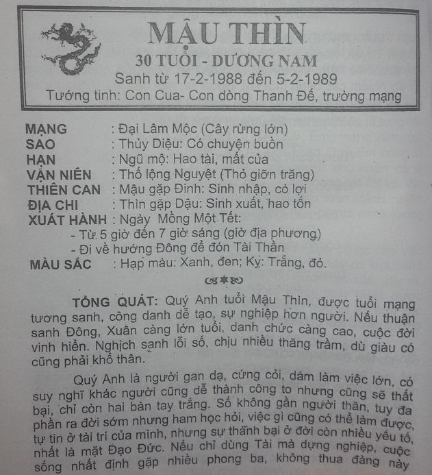 Tu Vi 2017 Mau Thin 1988 nam mang