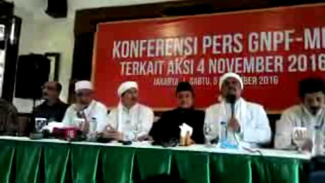 Konferensi Pers GNPF, Habib Rizieq: INI PEMBANTAIAN RAKYAT! HANYA ALLAH YANG MENYELAMATKAN RAKYAT SEMALAM!