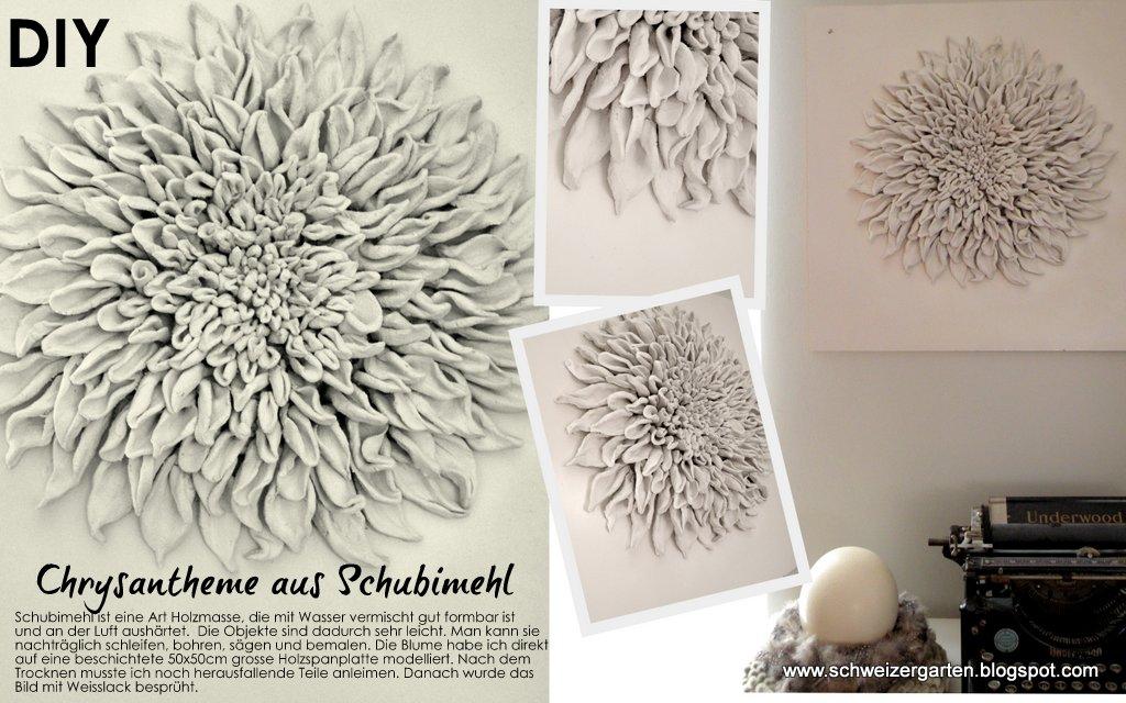 schubi mehl knetmasse diy bild 3d leinwand selber machen deko chrysantheme basteln formen kneten. Black Bedroom Furniture Sets. Home Design Ideas