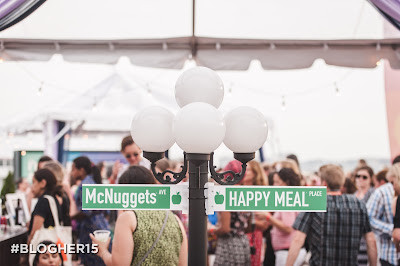 McNuggets Way and Happy Meal Place at #McDBlogHer #BlogHer15  McDonalds Closing Party at BlogHer 2015
