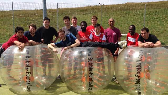Stag Group Playing Bubble Football