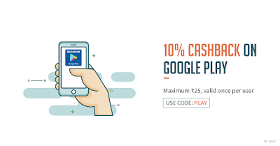 10% Cash Back On Google Play