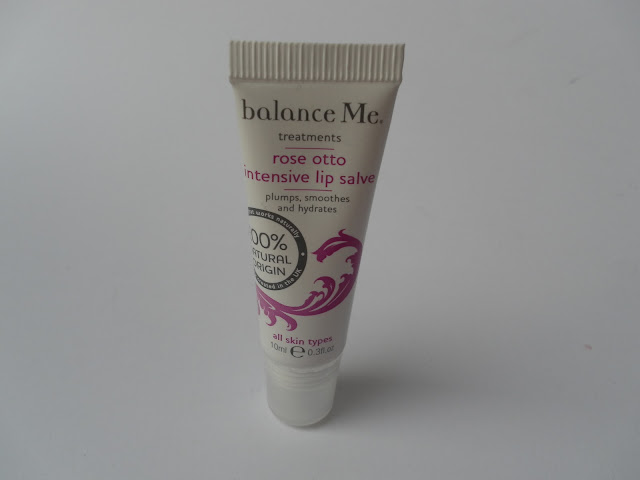A picture of Balance Me Rose Otto Intensive Lip Salve