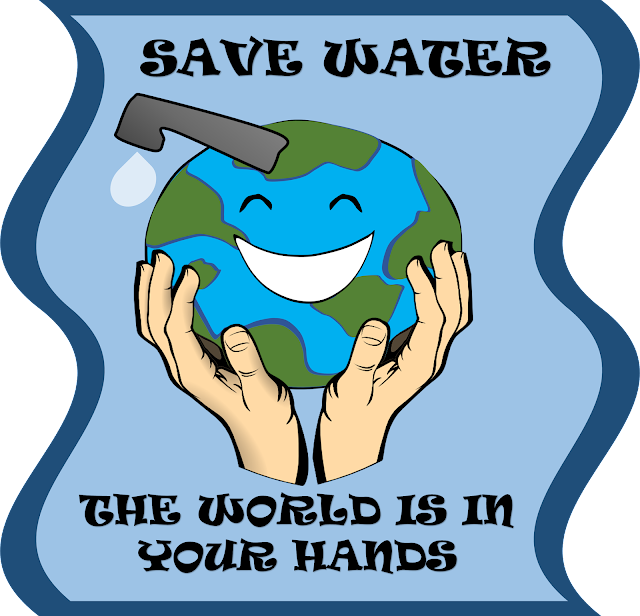Poster for water conservation, Save water poser