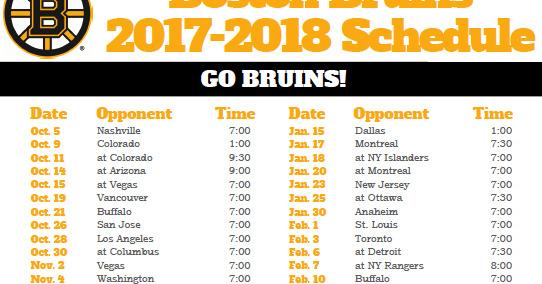 picture about Boston Bruins Printable Schedule titled Printable Boston Bruins Agenda