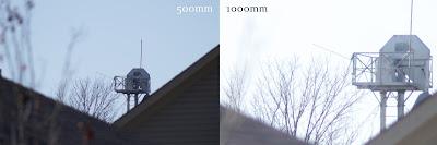 500mm vs. 1000mm lens