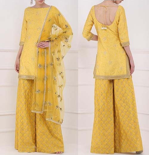 Front High Neck With Backless Pattern