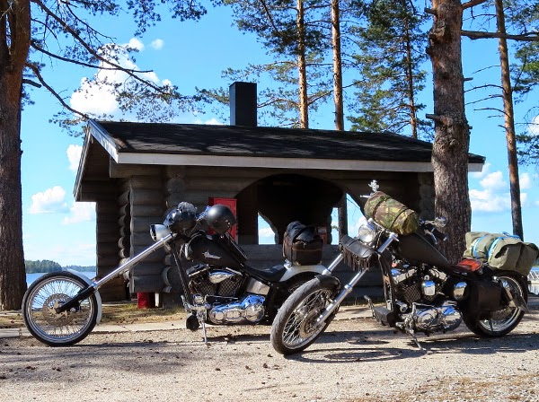 Softail sporster motorbike