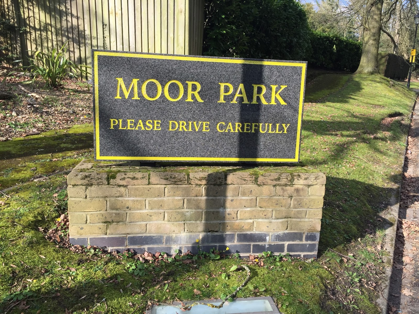 Sign for the Moor Park estate
