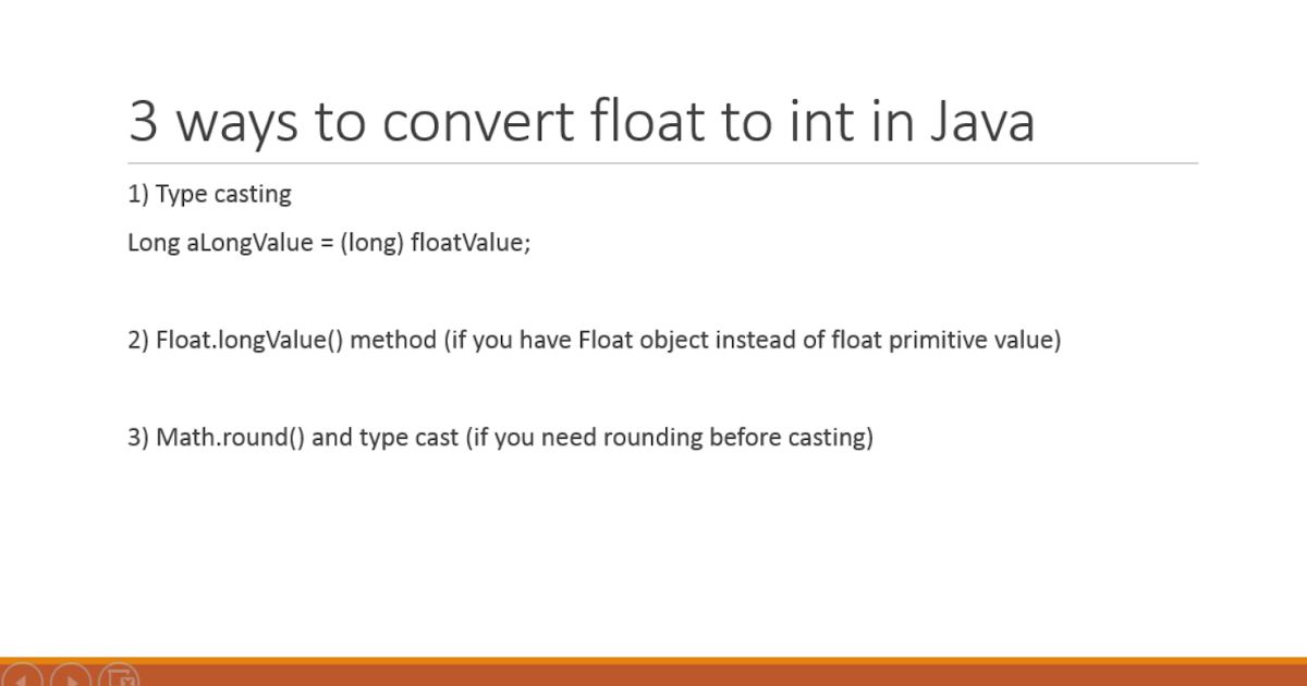 How to convert float to int in Java? Examples | Java67