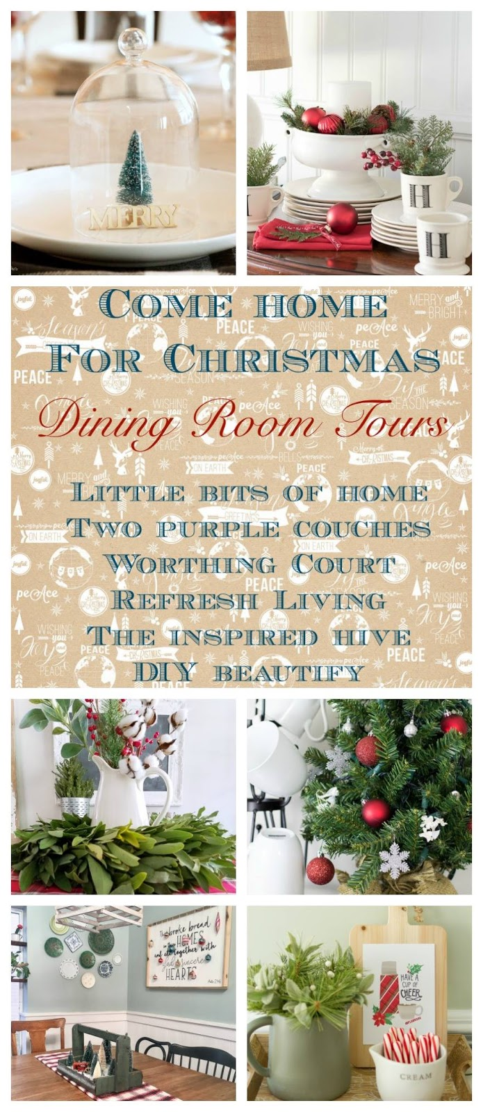 Holiday room tours! 32 bloggers share five different rooms decorated for Christmas.