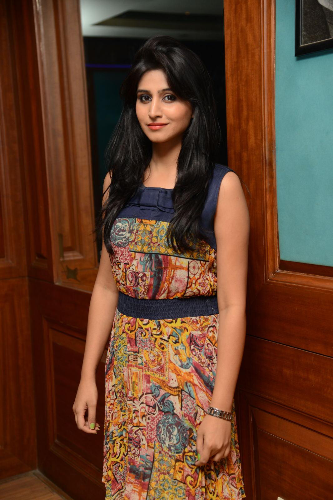 Actress Shamili Long Hair Stills in Yellow Top