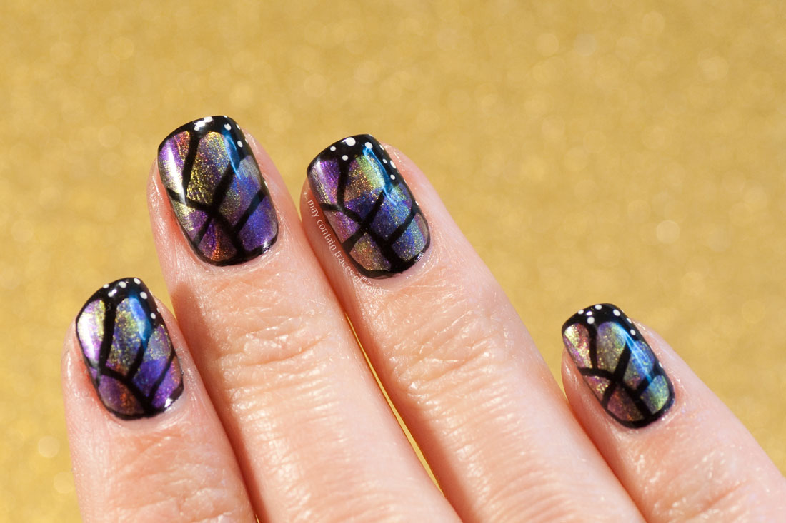 31 Day Challenge: Day 13, Animal Print - Duo chrome Butterfly Wings Manicure