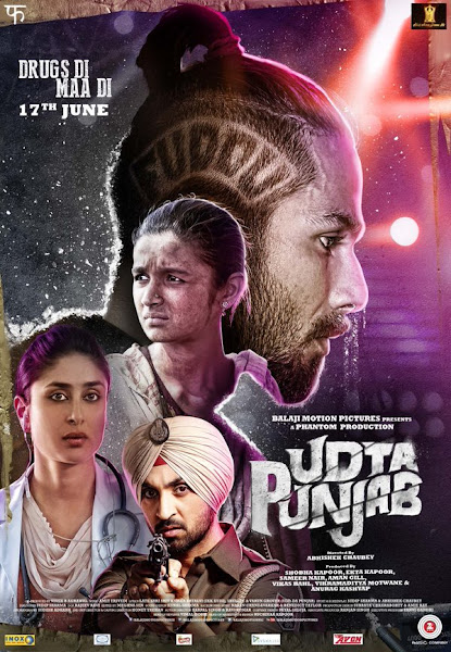 Poster of Udta Punjab 2016 480p Hindi BRRip Full Movie Download 300MB HEVC