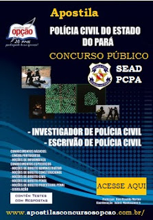 Apostila Concurso Policia Civil do Pará - PC PA 2016.