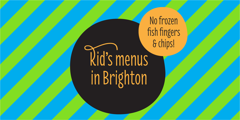 kids menus in brighton