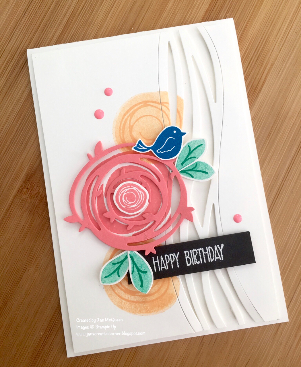 Card stock whisper white thick for the base and top panel and