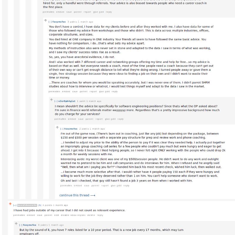 Reddit Career Advice