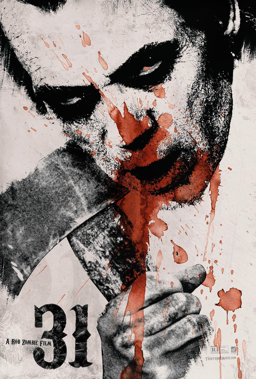 Nuevo póster de la película de terror '31' escrita y dirigida por Rob Zombie