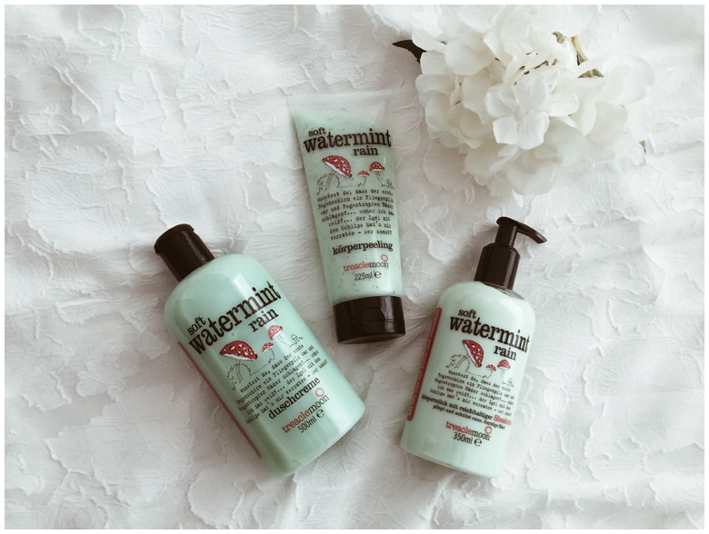 treaclemoon soft watermint rain, duschcreme, bath and shower gel, körperpeeling, body peeling, körpermilch, body lotion, erfahrungsbericht, review