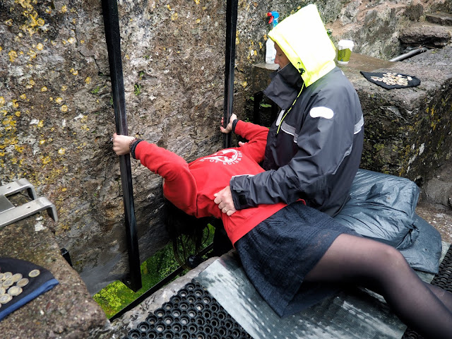 Kissing the Blarney Stone - Blarney Castle, County Cork, Ireland