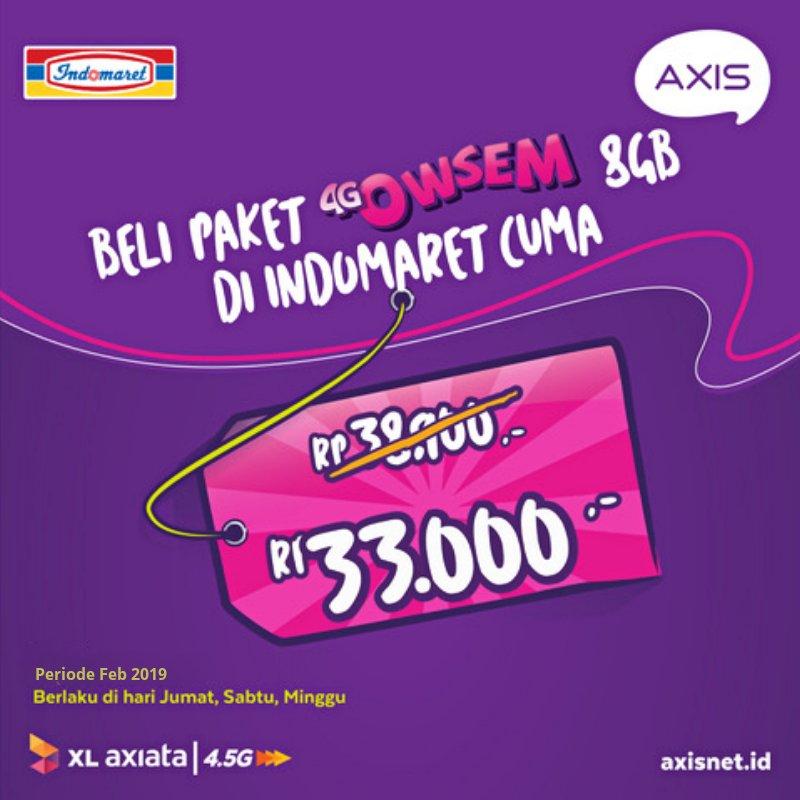 #Indomaret - #Promo Paket 4G Owsem 8GB Cuma 33 RIbuan (s.d 28 Feb 2019)