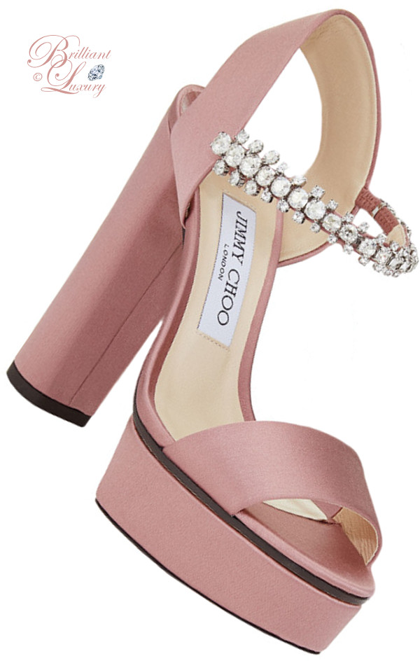 Brilliant Luxury ♦ Jimmy Choo Santina Rosewood Satin Platform Sandals
