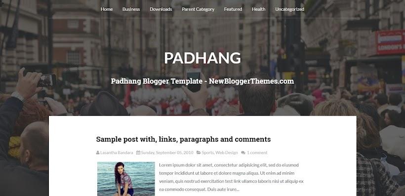 Padhang Free Blogger Template