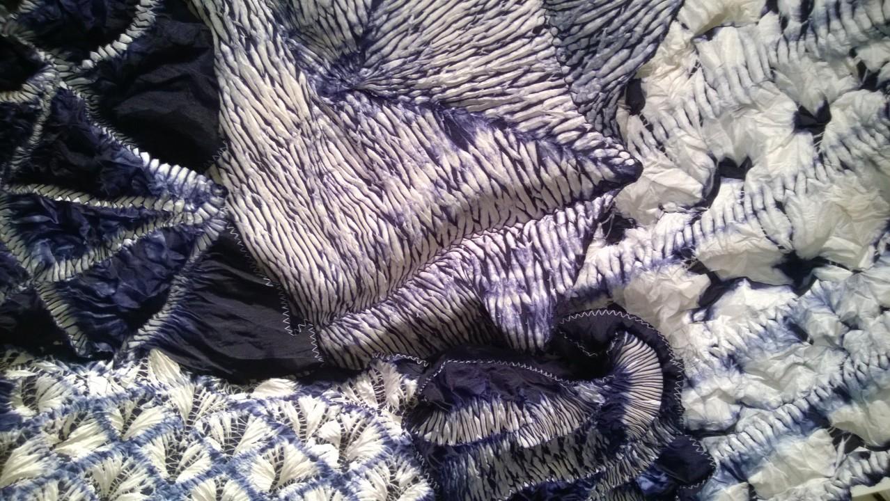 The Printed Fabric Bee Exploring Hand Stitched Shibori