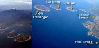Gili Trawangan, Gili Meno dan Gili Air di Lombok
