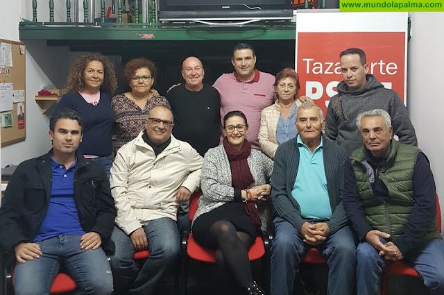 Carmen Acosta como secretaria general del PSOE de Tazacorte
