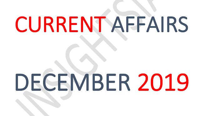 InsightsIAS Current Affairs December 2019