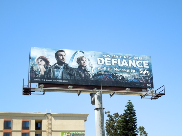 Defiance series launch billboard