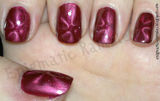 barry-m-red-burgundy-nail-polish-magnetic-magnet-swatch-enigmatic-rambles