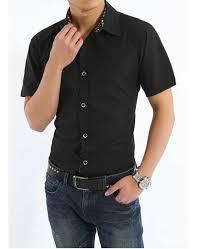 baju kemeja lengan pendek untuk pria