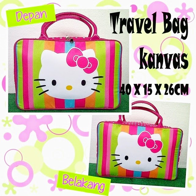 Tas Travel Bag Anak Hello Kitty Murah