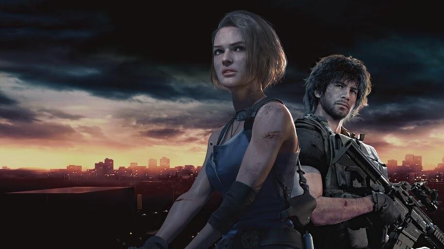 Resident Evil 3 Remake, Jill Valentine, Carlos Oliveira, 4K, #3.1608