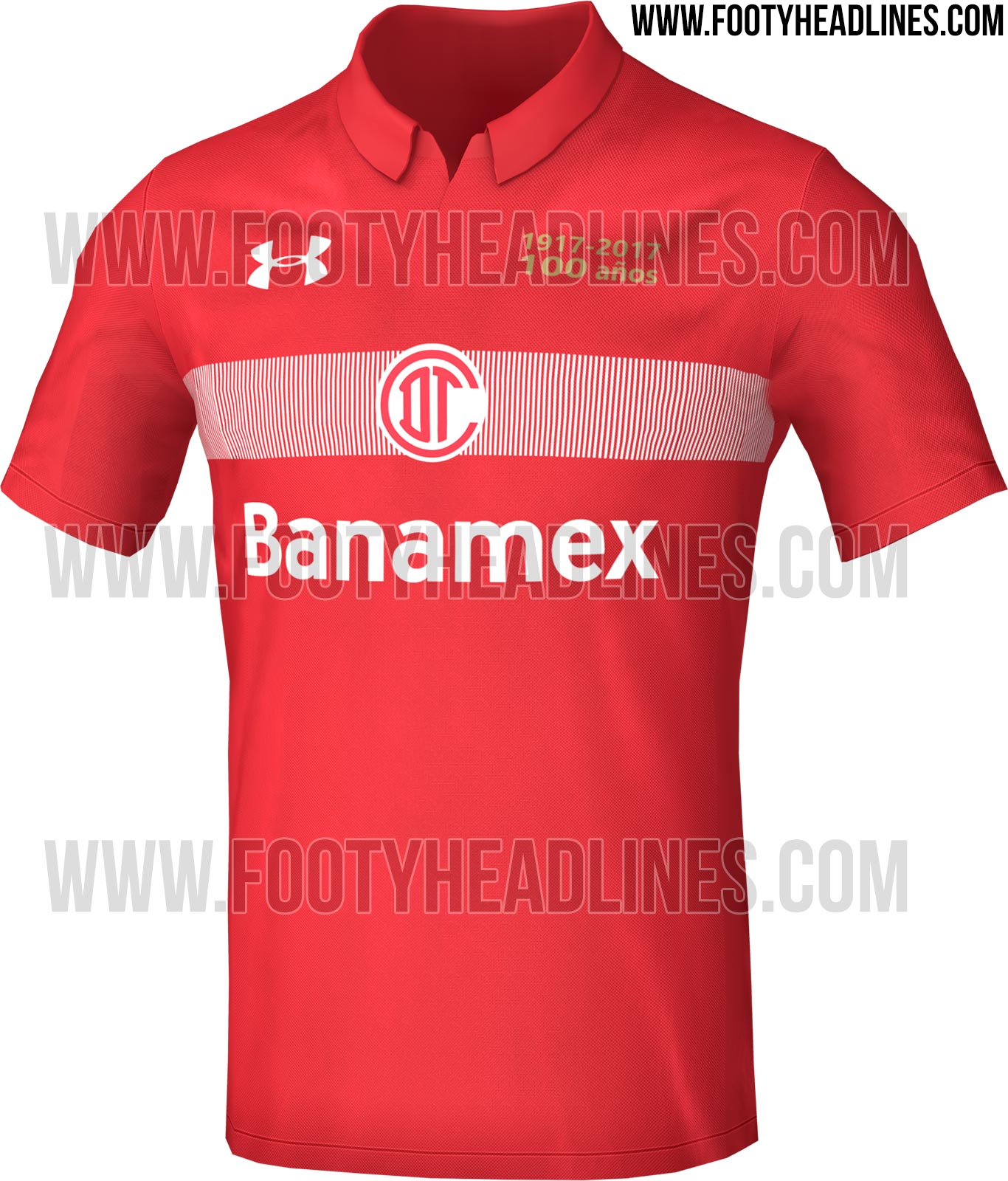 Toluca FC 3rd Jersey - 2015/16 Under Armour Toluca Soccer Jerseys