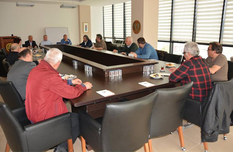 Bülend Engin'in Başkanı Olduğu ÇTSO 10-11 No'lu Meslek Grubu Üyeleri ile Toplandı
