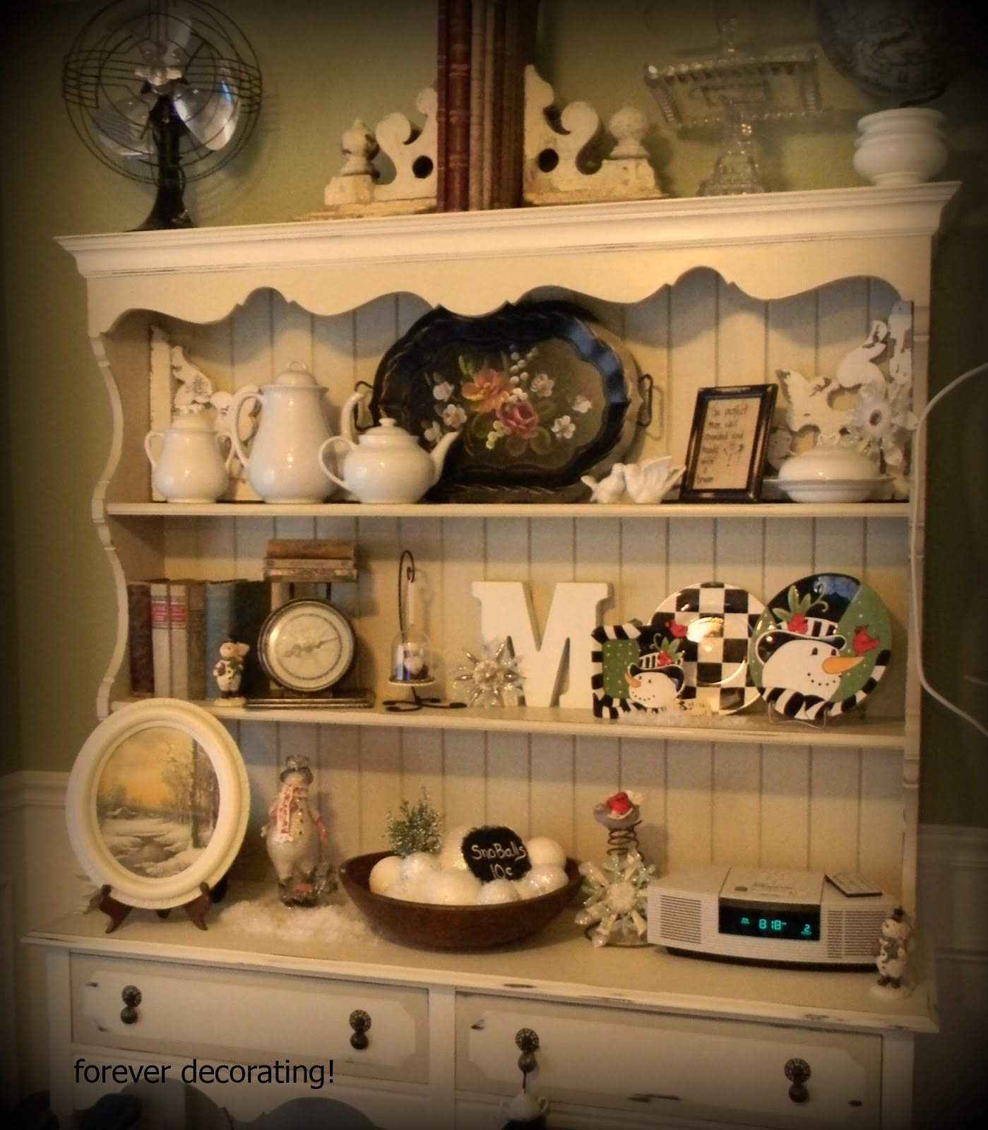 Forever Decorating!: Winter Hutch ~ 109