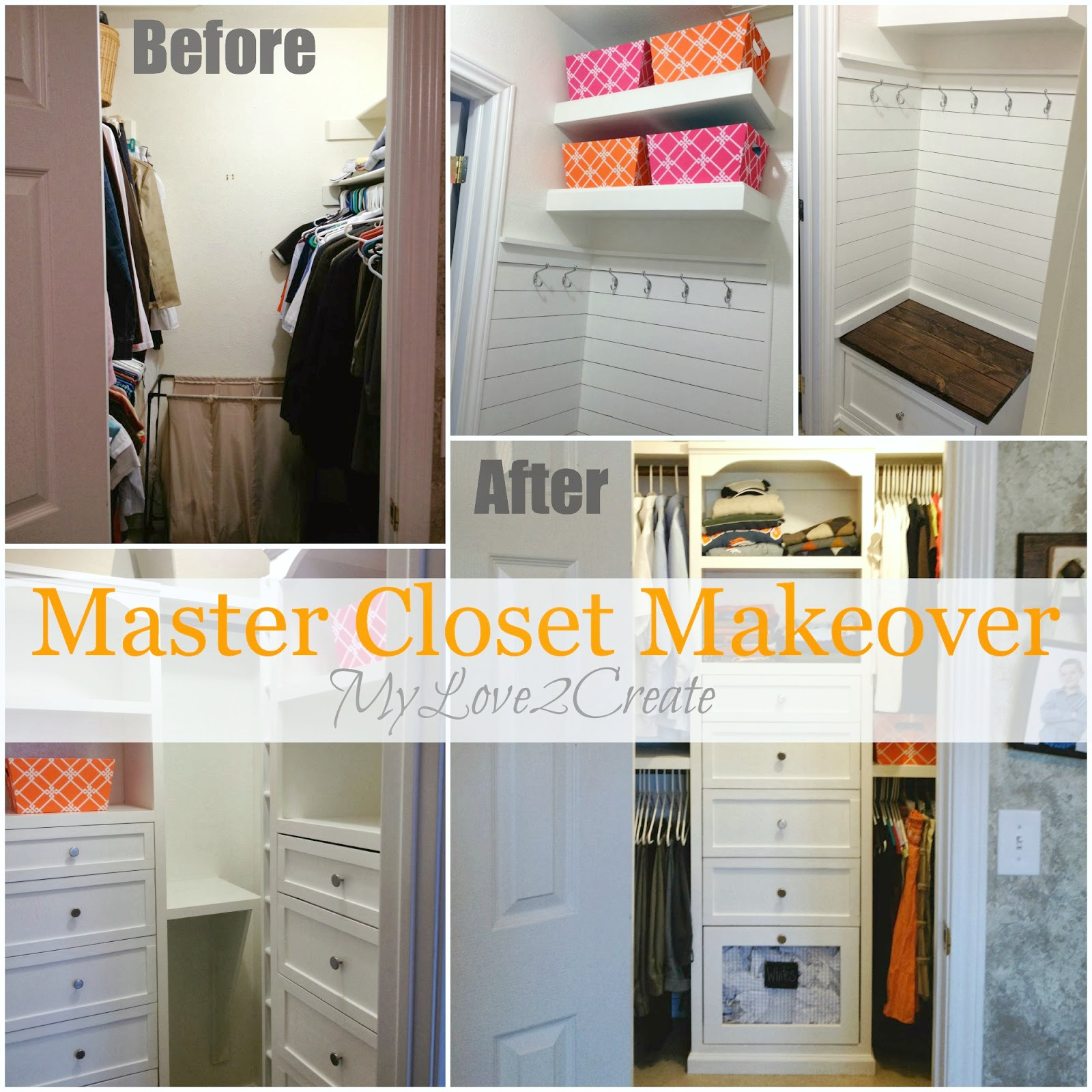 Create a beautiful and efficient Master Closet on a budget!