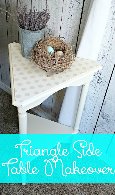 Triangle Side Table Makeover